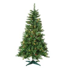 4' Green Colorado Spruce Christmas Tree with 150 Multi Lights with Stand