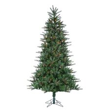 7.5' Natural Cut Franklin Spruce Christmas Tree with 500 Multi Lights with Stand