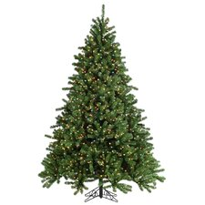 9' Green Grand Canyon Spruce Christmas Tree with 1500 Multi Lights with Stand