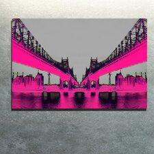 """Night Vision Pink"" Canvas Art"