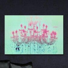 Liquid Chandelier Mint Pastel Graphic Art on Canvas