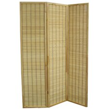 "70.25"" x 52"" Serenity Bamboo 3 Panel Room Divider"