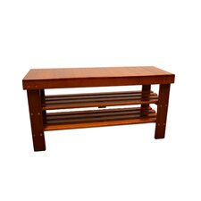 Solid Wood Shoe Organizer Bench