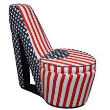 Patriotic High Heel Storage Chair