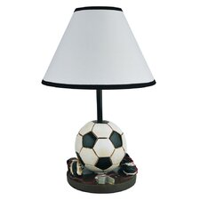 """Soccer Ball 9"""" H Table Lamp with Empire Shade"""