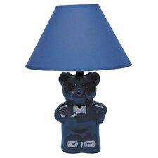 "Ceramic Teddy Bear 7.5"" H Table Lamp with Empire Shade"