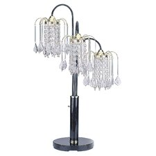 "Crystal 34"" H Table Lamp with Novelty Shade"