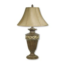"""Filigree 32"""" H Table Lamp with Bell Shade"""