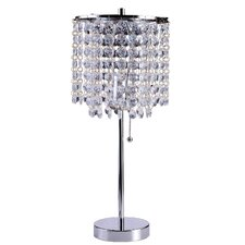 "20.25"" Decorative Glam Table Lamp with Drum Shade"