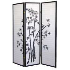 "70"" x 51"" Bamboo 3 Panel Room Divider"