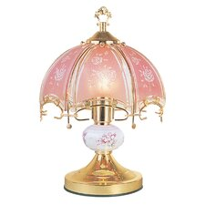 "Floral Touch 14.25"" H Table Lamp with Bowl Shade"
