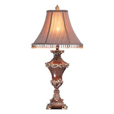"""Resemble Wood 32"""" H Table Lamp with Bell Shade"""