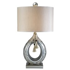 "Chrysanthemum 29"" H Table Lamp with Drum Shade"