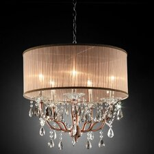 Rosie Crystal 5 Light Ceiling Lamp