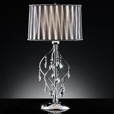 "Crystal 1 Light 31"" H Table Lamp with Drum Shade"
