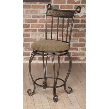 "Beau 24"" Swivel Bar Stool with Cushion"