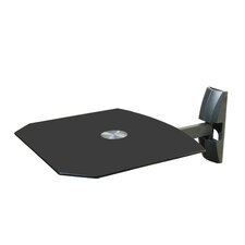 Single Wall Mount Shelf for DVD VCR Cable Box, PS3, XBOX, Stereo Blu - Ray Components