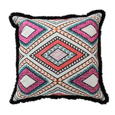 Mexico City Poncho Cotton Throw Pillow