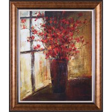 Vase of Red Flowers by Christine Stewart Framed Painting Print
