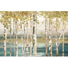 'Down to The River' by Allison Pearce Painting Print on Wrapped Canvas
