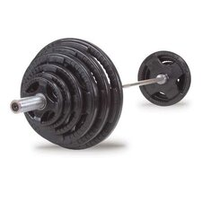 500 lbs Rubber Grip Olympic Set