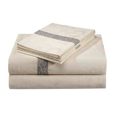 Lotus Temple Viscose Cotton Fitted Sheet