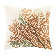 Summer Beach Cotton Throw Pillow