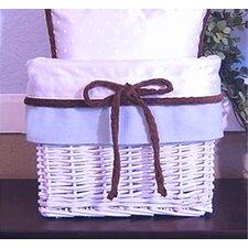 Blue Chocolate Wicker Basket
