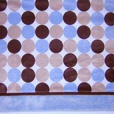 Blue Chocolate Polka Dot Curtain Valance