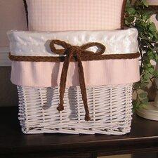 Pink Chocolate Wicker Basket