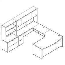 Kenwood 4-Piece U-Shape Desk Office Suite
