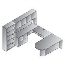 Sonoma 8-Piece U-Shape Desk Office Suite