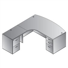 Napa Left L-Shaped Corner Executive Desk
