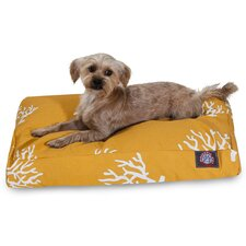 Coral Rectangular Pet Bed