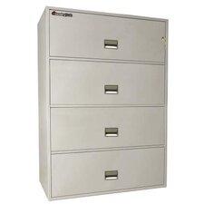 4-Drawer Fireproof Key Lock Letter File Safe