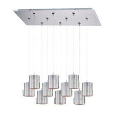 Silver Plate 10-Light RapidJack Pendant and Canopy