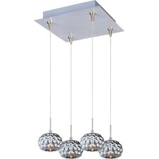 Mylar 4-Light RapidJack Pendant and Canopy