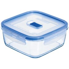 Pure Box Active 3.2-Cup Square Storage Box with Lid (Set of 6)