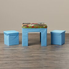 Dickey Kids' 3 Piece Square Table and Chair Set