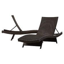 Haage Sidempuan Adjustable Chaise Lounge (Set of 2)