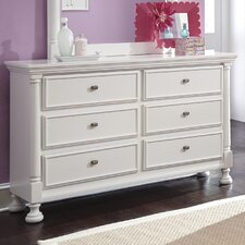 Kaslyn 6 Drawer Dresser with Mirror