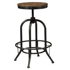 Pinnadel Adjustable Height Swivel Bar Stool (Set of 2)