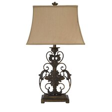 """28.63"""" H Table Lamp with Square Shade"""