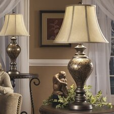 "Nitzana 33.25"" H Table Lamp with Bell Shade (Set of 2)"