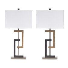 "Syler 28.75"" H Table Lamp with Rectangular Shade (Set of 2)"