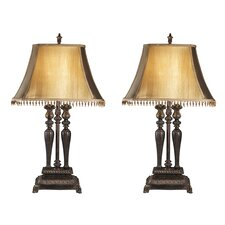 """Desana 32.75"""" H Table Lamp with Empire Shade (Set of 2)"""