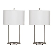 "Maisie 28"" H Table Lamp with Oval Shade (Set of 2)"