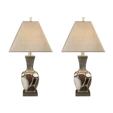 "Diallo 30.6"" H Table Lamp with Empire Shade (Set of 2)"