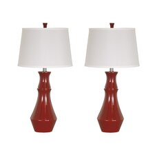 "Sirilla 29"" H Table Lamp with Empire Shade (Set of 2)"