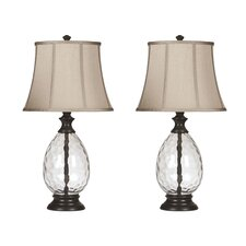 """Olivia 28.5"""" H Table Lamp with Bell Shade (Set of 2)"""